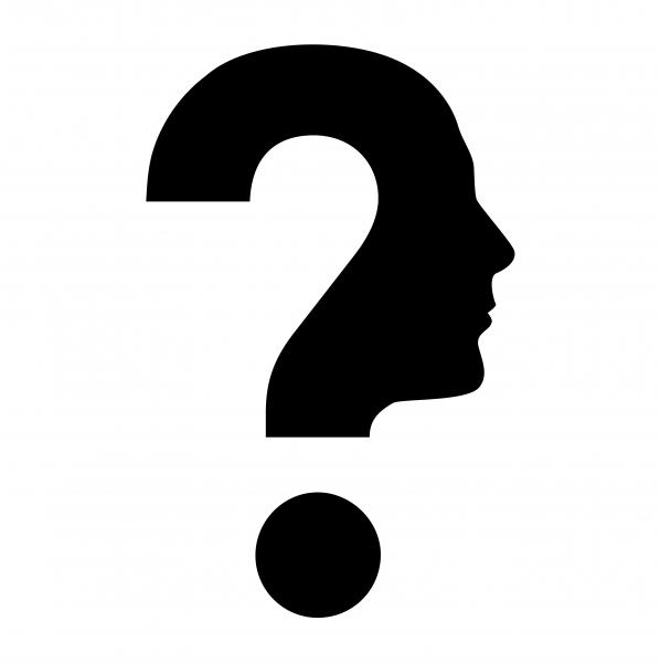 frågetecken ansikte grafisk profil